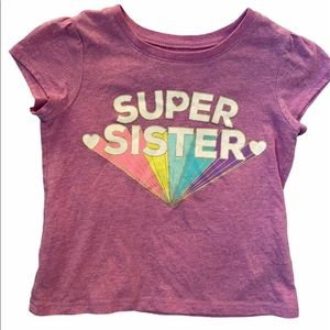 ✨3 for $30✨2T Girls Sparkly Purple Sister Shirt